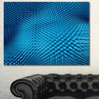 Designart 'Wavy Blue Prickly Design' Abstract Artwork on Canvas