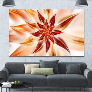 Designart 'Dance of Brown Exotic Flower' Modern Floral Art