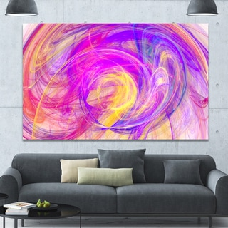 Designart 'Purple Mystic Psychedelic Texture' Extra Large Abstract Art on Canvas - Purple