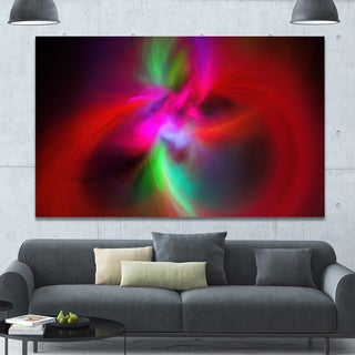Designart 'Red Spiral Kaleidoscope' Abstract Wall Art Canvas - Red