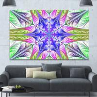 Designart 'Extraordinary Fractal Light Green Art' Large Wall Art on Canvas