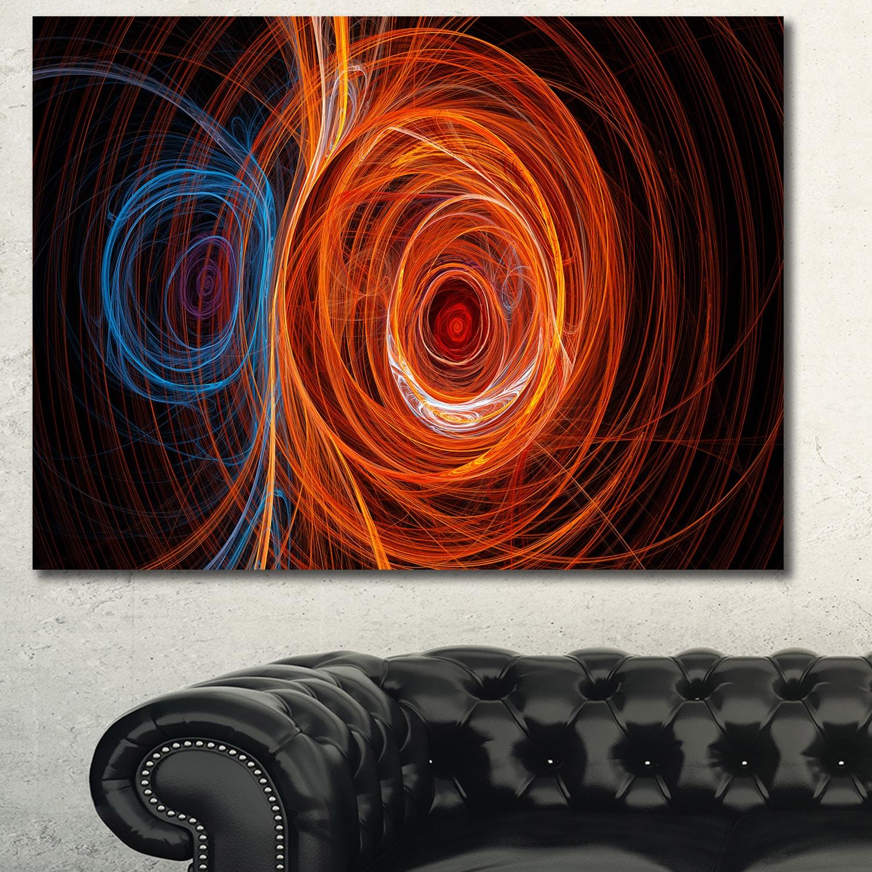 Designart-039-Brown-Large-Fractal-Circles-039-Large-Wall-Art-on-Small thumbnail 9