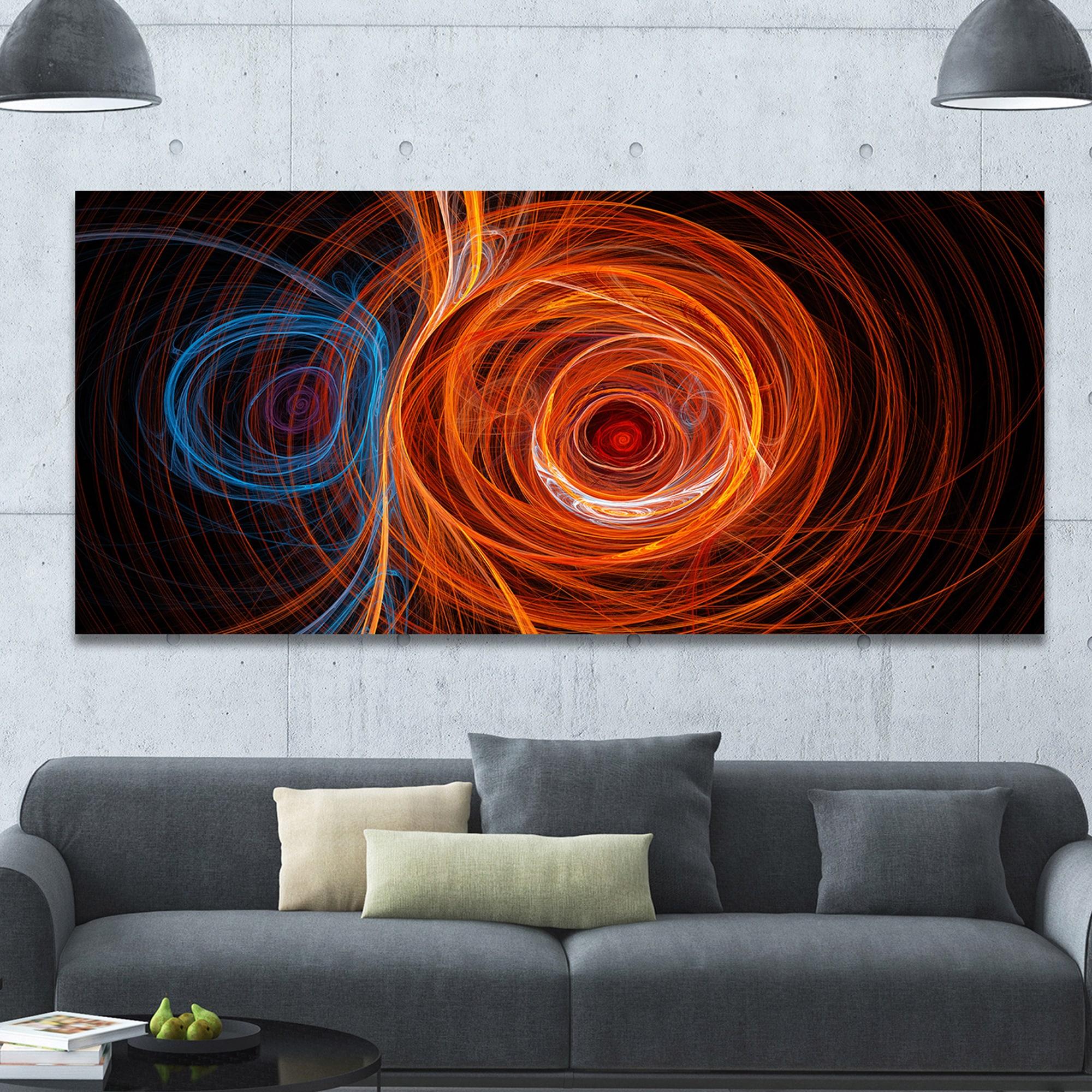 Designart-039-Brown-Large-Fractal-Circles-039-Large-Wall-Art-on-Small thumbnail 8