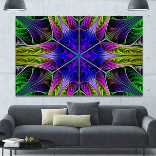 Link to Designart 'Star-Shaped Blue Stained Glass' Abstract Wall Art on Canvas Similar Items in Vinyl Wall Art