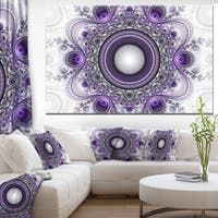 Purple Fractal Pattern with Circles' Large Wall Art on Canvas