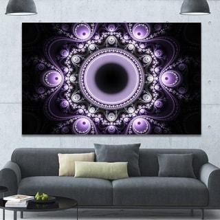 Designart 'Light Purple Pattern with Circles' Large Wall Art on Canvas
