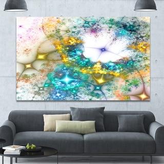 Designart 'Blue Cosmic Black Hole.'Large Abstract Canvas Art Print