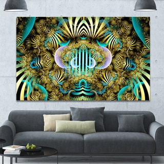 Link to Designart 'Magical Fairy Pattern Brown'Large Abstract Canvas Art Print Similar Items in Vinyl Wall Art