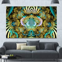 Designart 'Magical Fairy Pattern Brown'Large Abstract Canvas Art Print