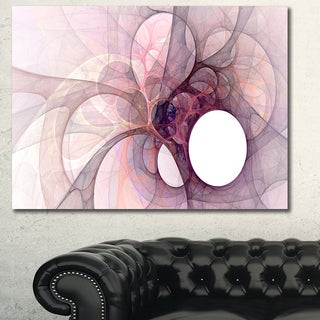 Designart 'Light Purple Fractal Angel Wings' Abstract Wall Art Canvas
