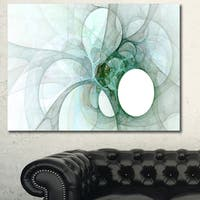 Designart 'White Fractal Angel Wings' Abstract Wall Art Canvas