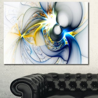Designart 'Shining Multi-Colored Plasma' Abstract Wall Art Canvas - Multi