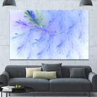 Designart 'Light Blue Veins of Marble' Abstract Wall Art Canvas