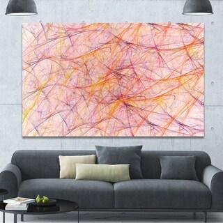 Designart 'Mystic Pink Fractal Veins' Abstract Wall Art on Canvas