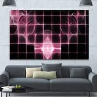 Designart 'Pink Bat Outline on Radar' Abstract Wall Art on Canvas