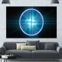 Designart 'Blue Sphere of Cosmic Mind' Abstract Wall Art on Canvas