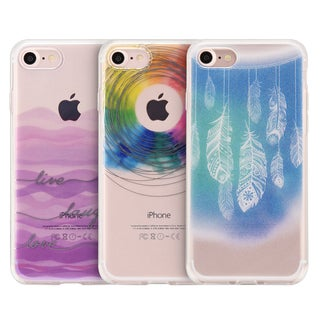 Apple Iphone 7 TPU Dancing Feather Water Color Imd Case