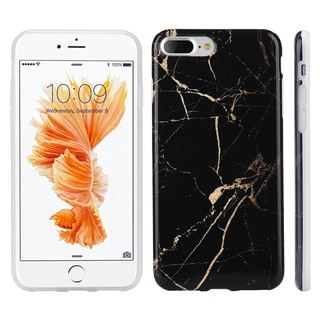 Apple Iphone 7 Plus Black/Gold Marble IMD Soft TPU Case