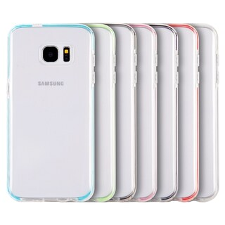Samsung Galaxy S7 Edge Invisible Bumper Agua/Clear Green Inner Frame Ultra-thin Hybrid Case
