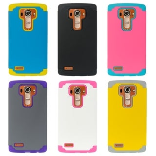 Grey and Yellow Polycarbonate Hybrid Case for LG G4