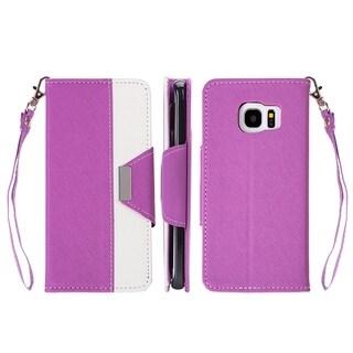 Samsung Galaxy S7 Princesa Wristlet PU Leather Case with Card Slots