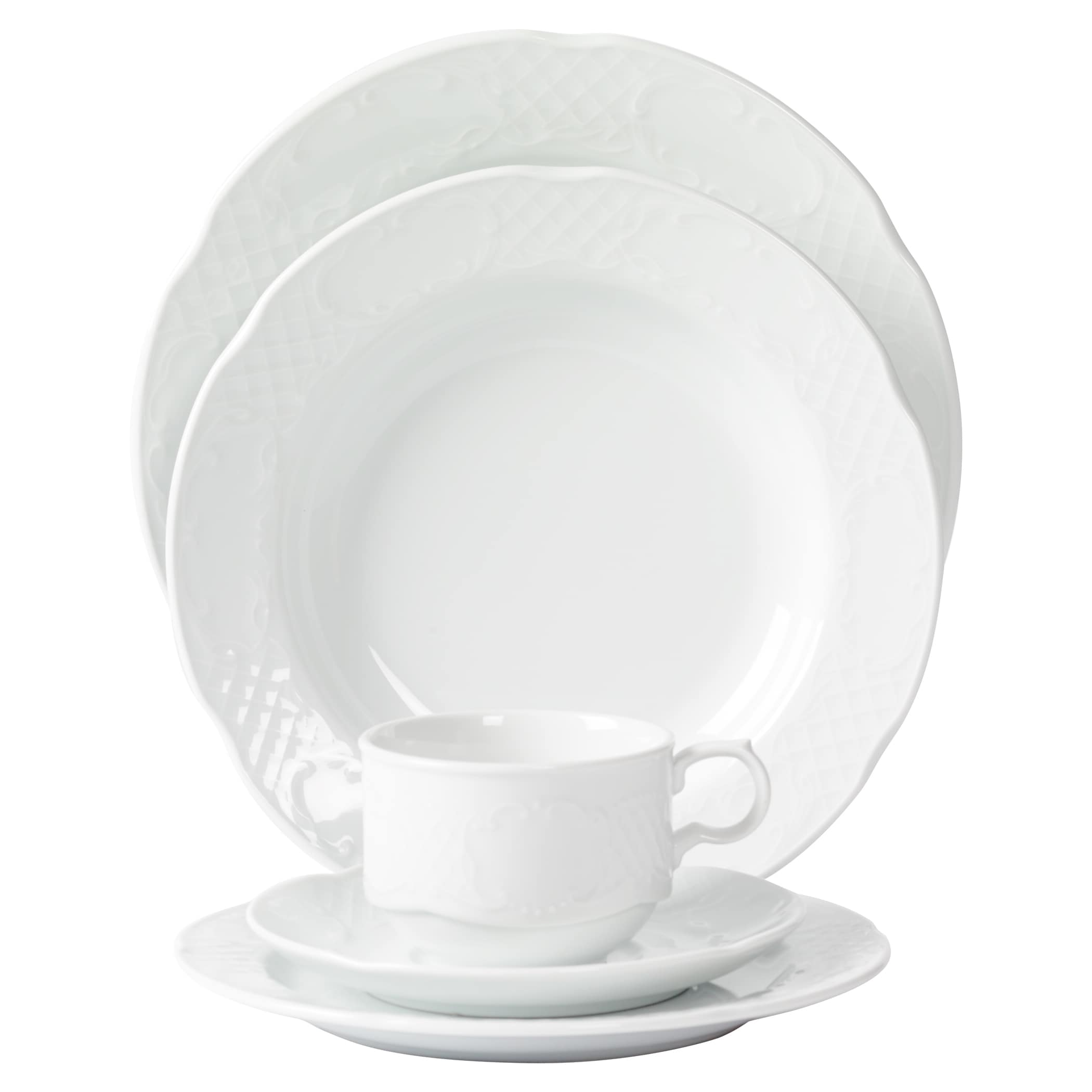 Tabletops Unlimited Inc. Mitterteich Porcelain Flora Scal...