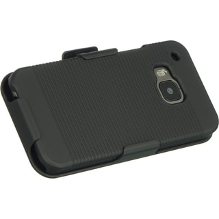 HTC One M9 Black Snap-on Case With Holster Combo