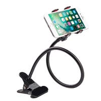 Universal Lazy Bracket Flexible Long Arms Clip Holder Clamp for Cell Phone and Tablet