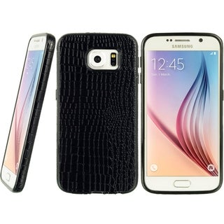 Samsung Galaxy S6 Crystal Skin Embed Premium Crocodile Leather Case