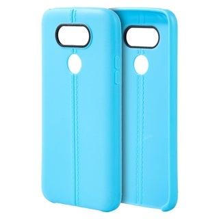 LG G5 Slim Jacket Blue Leather-look TPU Case