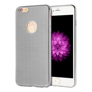 Apple Iphone 6 Plus/6S Plus Chrome TPU Ironmesh Design Skin Case with Electroplating Chrome Frame