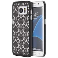 Black Rubber Samsung Galaxy S7 Edge Crystal Lace Case