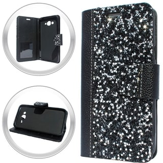 XL Samsung Galaxy J7 (2015) Black Rock Wallet