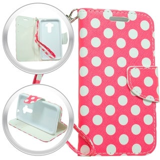 LG Stylus Hot Pink Polka Dot Wallet Pouch