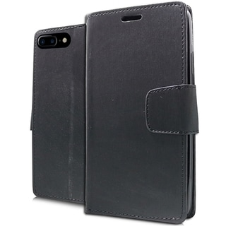 Black Brushed Faux Leather XL Wallet Pouch for iPhone 7 Plus (Option: Beige)