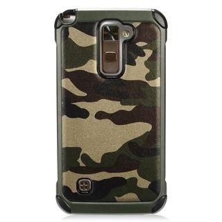 LG Stylo 2 Plus Black/Green TPU/PC Camouflage Case
