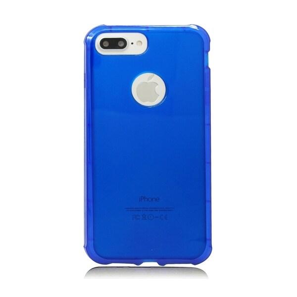 Blue TPU Gel and Air Cushion Bumper Case for Apple iPhone 7 Plus