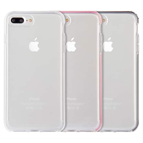 Apple Iphone 7 Plus Invisible Bumper Hybrid Ultra Thin Agua Clear Inner Frame Case