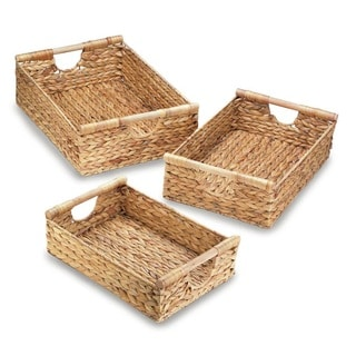 Kalis Weaved Straw Storage Nesting Baskets