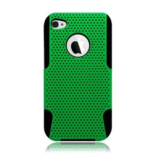 Insten Mesh Hard Snap-on Dual Layer Hybrid Case Cover For Apple iPhone 4/ 4S