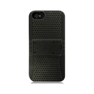 Insten Mesh Hard Snap-on Dual Layer Hybrid Case Cover For Apple iPhone 5/ 5S
