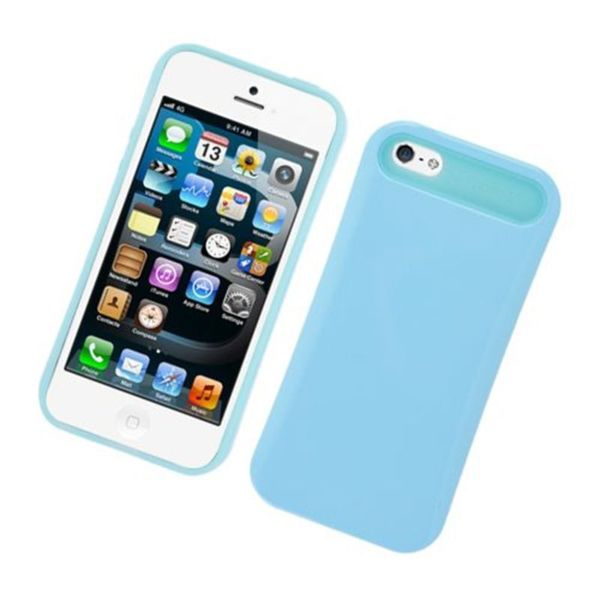 Insten Night Glow Hard PC/ Silicone Jelly Case Cover For Apple iPhone 5/ 5S