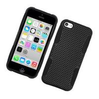Insten Mesh Hard Snap-on Dual Layer Hybrid Case Cover For Apple iPhone 5C