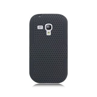 Insten Mesh Hard Snap-on Dual Layer Hybrid Case Cover For Samsung Galaxy S3 Mini