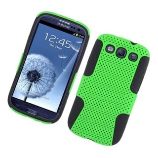 Insten Mesh Hard Snap-on Dual Layer Hybrid Case Cover For Samsung Galaxy S3