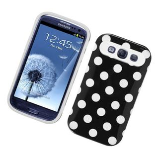 Insten Polka Dots Night Glow Hard PC/ Silicone Jelly Case Cover For Samsung Galaxy S3