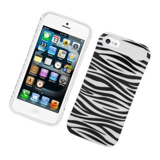 Insten Zebra Night Glow Hard PC/ Silicone Jelly Case Cover For Apple iPhone 5/ 5S