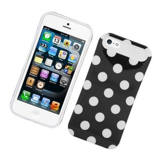 Insten Polka Dots Night Glow Hard PC/ Silicone Jelly Case Cover For Apple iPhone 5/ 5S