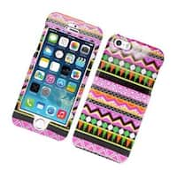 Insten Pink/ Green Tribal Hard Snap-on Case Cover For Apple iPhone 5/ 5S