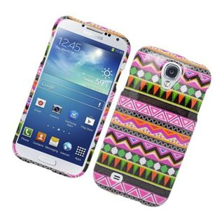 Insten Pink/ Green Tribal Hard Snap-on Case Cover For Samsung Galaxy S4
